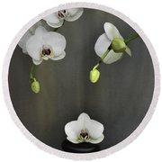 Serene Orchid Round Beach Towel