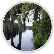 Serene River Round Beach Towel