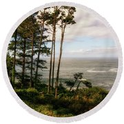 Serenity At Depoe Round Beach Towel