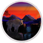 Serenity At Sunrise Round Beach Towel by J Griff Griffin