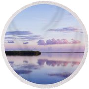 Serenity At Sunrise Round Beach Towel