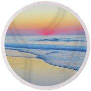 Serenity Beach Sunrise Round Beach Towel