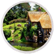 Serenity In The Shire Round Beach Towel