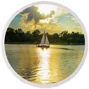 Serenity  Round Beach Towel by Mary Ward