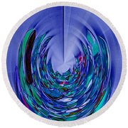 Round Beach Towel featuring the photograph Serenity by Nareeta Martin