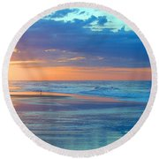 Serenity Round Beach Towel by  Newwwman