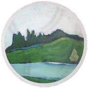 Serenity Of A Summer Day Round Beach Towel