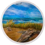 Serenity On A Florida Beach Round Beach Towel