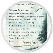 Serenity Prayer The Full Version Round Beach Towel