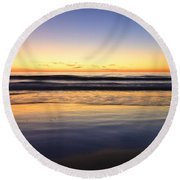 Serenity Sunset Round Beach Towel