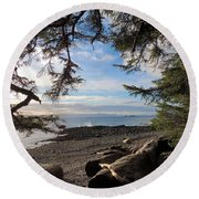 Serenity Surroundings  Round Beach Towel