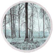 Series Silent Woods 2 Round Beach Towel