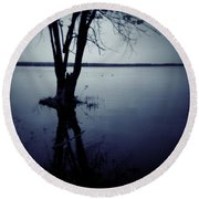 Series Wood And Water 2 Round Beach Towel