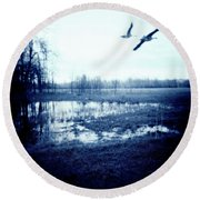 Series Wood And Water 3 Round Beach Towel