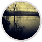 Series Wood And Water 5 Round Beach Towel