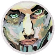 Serious Face Round Beach Towel