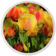 Round Beach Towel featuring the photograph Seriously Spring by Wendy Wilton