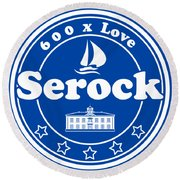 Serock T-shirt For 600 Years Anninversary Round Beach Towel