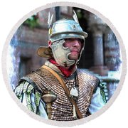 Serving The Emperor In Rome Round Beach Towel
