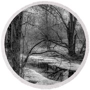 Round Beach Towel featuring the photograph Set On Defrost by Kendall McKernon