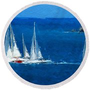 Set Sail Round Beach Towel
