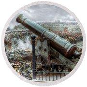 Sevastopol Cannon 1855 Round Beach Towel