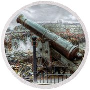 Sevastopol Cannon 1855 Round Beach Towel
