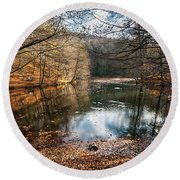 Round Beach Towel featuring the photograph Seven Lakes by Okan YILMAZ