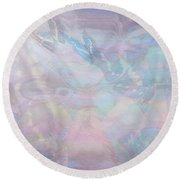 Seven Pearls Flutter By Round Beach Towel