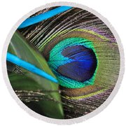 Several Feathers Round Beach Towel