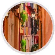 Seville, Colorful Spain Round Beach Towel