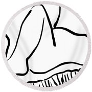 Sex  Round Beach Towel