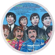 Sgt.pepper's Lonely Hearts Club Band Round Beach Towel