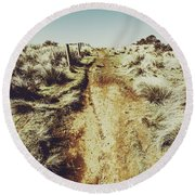 Shabby Outback Path Round Beach Towel
