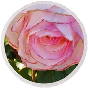 Round Beach Towel featuring the photograph Shaded Rose by Jasna Gopic