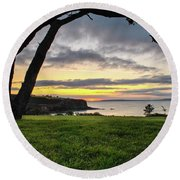 Shaded Sunrise Round Beach Towel