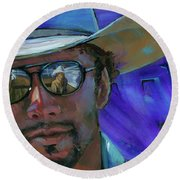 Shades Round Beach Towel