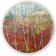 Shades Of Autumn Round Beach Towel by Judi Goodwin