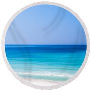 Shades Of Blue Round Beach Towel by Shelby  Young