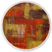 Shades Of Fall Round Beach Towel