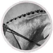 Shades Of Grey Fine Art Horse Photography Round Beach Towel