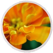 Shades Of Orange Round Beach Towel