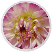 Shades Of Pink Round Beach Towel