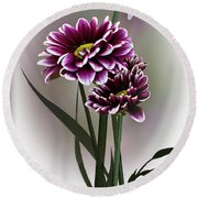 Shades Of Purple Round Beach Towel by Judy Johnson