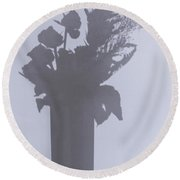 Shades Of Roses Round Beach Towel