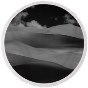 Shades Of Sand Round Beach Towel