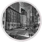 Shades Of The City Round Beach Towel