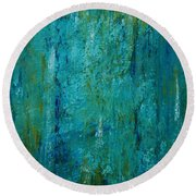 Shades Of The Sea Round Beach Towel