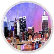 Shades Of Twilight Round Beach Towel
