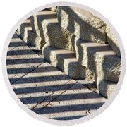 Shadow Abstract Round Beach Towel